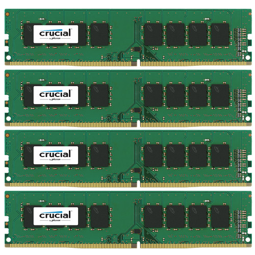 Crucial 32GB (4 x 8GB) UDIMM DDR4-2400 PC4-19200 Memory Module Kit