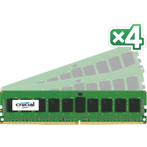 Crucial 32GB DDR4 2133 MHz RDIMM Memory Kit (4 x 8GB)