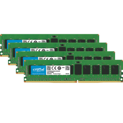 Crucial 32GB DDR4-2666 RDIMM Memory Kit (4 x 8)