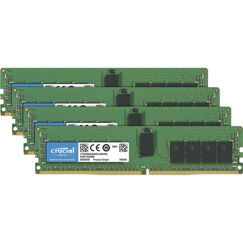 Crucial 32Gb Kit (8GBx4) DDR4 2400 MT/S (PC4-19200) CL17 DR X8 Unbuffered Sodimm 260Pin