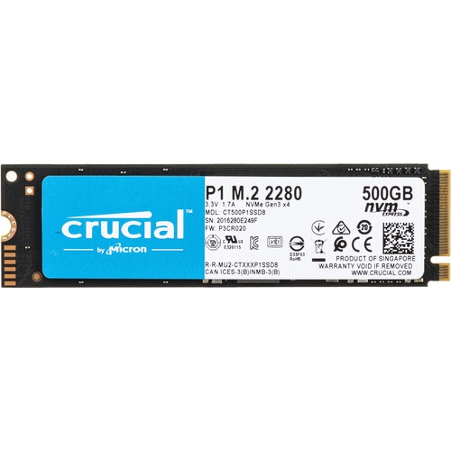 Crucial 500GB P1 NVMe M.2 Internal SSD