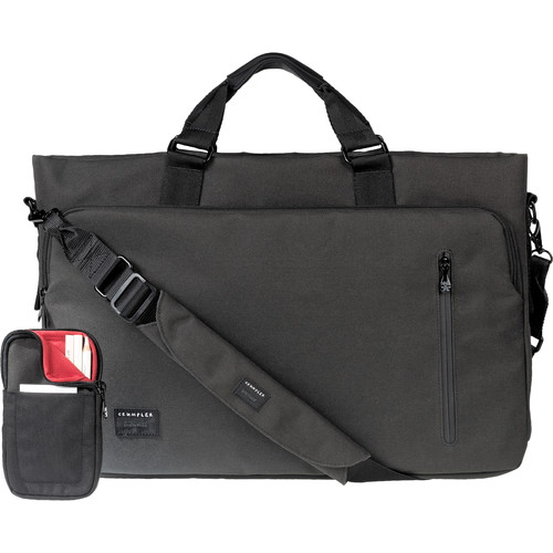 "Crumpler Milestone Moment 15"" Laptop Briefcase (Large, Gunmetal)"