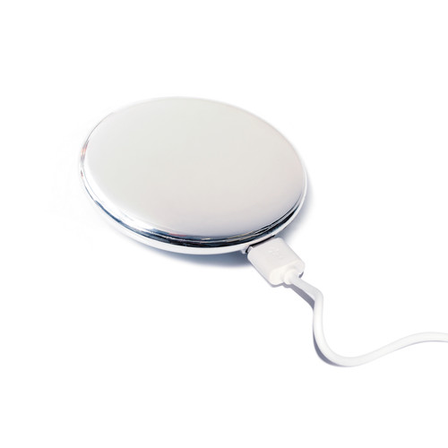 CTA Digital Compact Mirror 5000mAh External Battery Charger