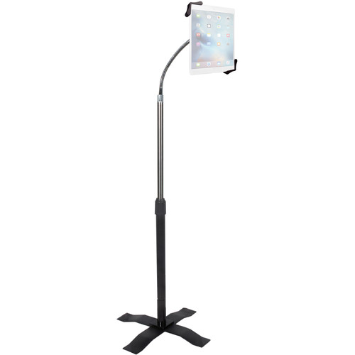 CTA Digital Height-Adjustable Gooseneck Floor Stand for iPad 2/3/4