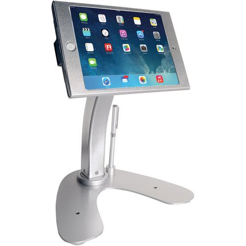 CTA Digital Anti-Theft Security Kiosk & POS Stand for iPad mini 1 to 4 (Silver)