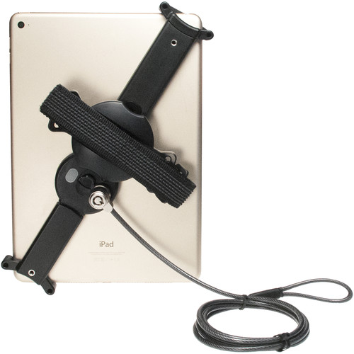 CTA Digital Adjustable Security Grip for iPad and Large Tablets