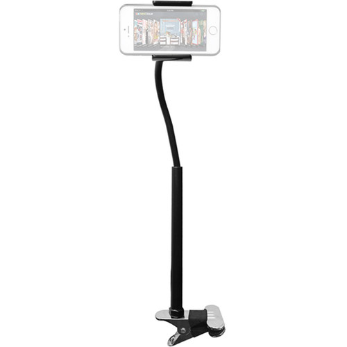 CTA Digital Adjustable Clip-On Stand for Smartphones and Mini Tablets