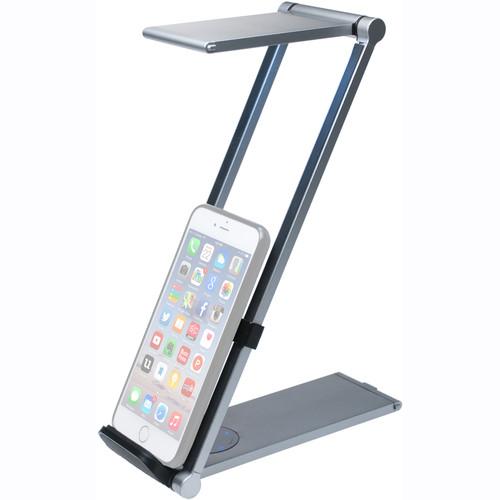 CTA Digital Foldable LED Desk Lamp Stand for Tablets and Smartphones