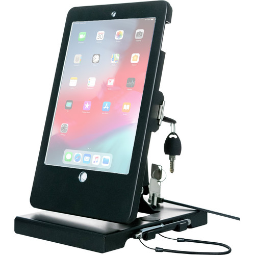 """CTA Digital Flat-Folding Tabletop Security Stand for Apple iPad (5th- and 6th Gen), 9.7"""" iPad Pro, and iPad Air"""