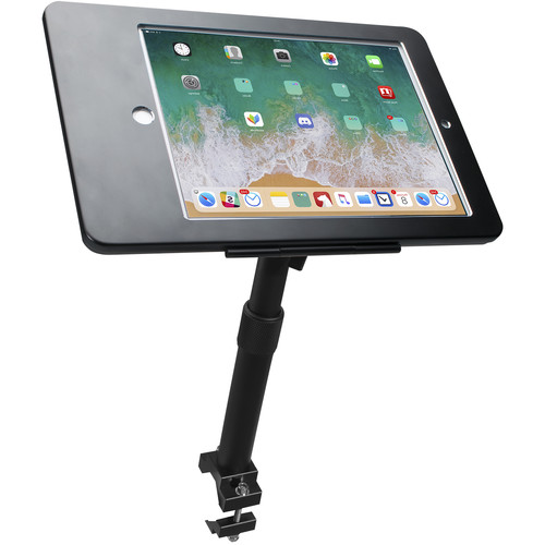 CTA Digital PAD-HATG9 Height-Adjustable, Tube-Grip Security Mount for iPad