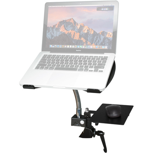 CTA Digital Heavy-Duty Gooseneck Clamp Stand for Laptops