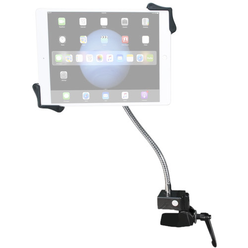 """CTA Digital Heavy-Duty Gooseneck Clamp Stand for 7-13"""" Tablets"""