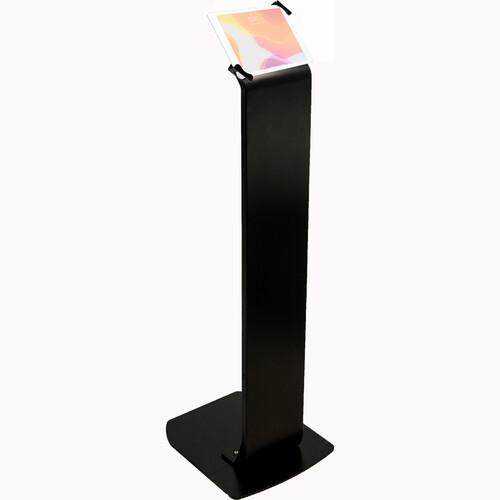 "CTA Digital Universal Premium Locking Floor Stand Kiosk for 7-14"" Tablets (Black)"