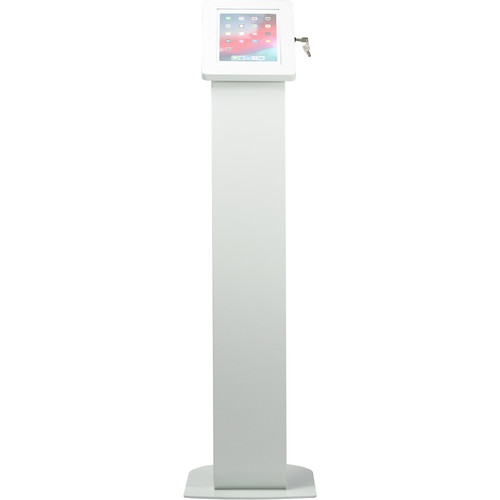"CTA Digital Premium Locking Floor Stand Kiosk for Select iPad, Galaxy, and Other 9.7-10.5"" Tablets (White)"