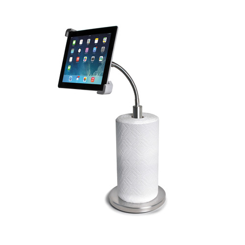 CTA Digital Paper Towel Holder with Gooseneck Stand for iPad and Tablets