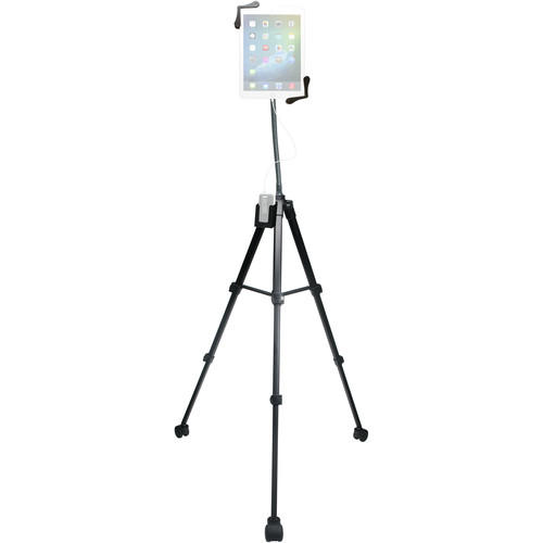 "CTA Digital Rolling Portable Tripod Stand For 7 - 13"" Tablets"