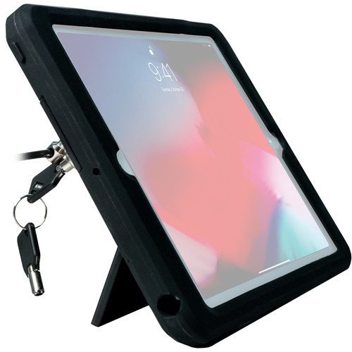 "CTA Digital Rugged Security Case with Kickstand and Anti-Theft Cable for 9.7"" iPad Pro, iPad (Early 2017 & 2018), and iPad Air"
