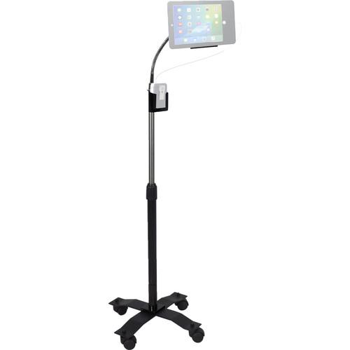 "CTA Digital Compact Security Gooseneck Floor Stand for 9.7"" iPads"