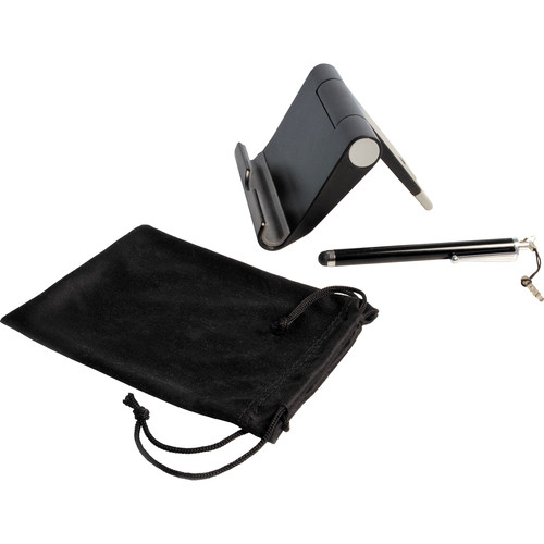CTA Digital Travel Kit with Stand, Stylus, & Microfiber Pouch for Tablets
