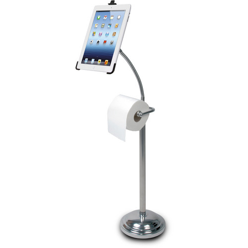 CTA Digital Pedestal Stand with Roll Holder for 2nd, 3rd, 4th Gen iPad