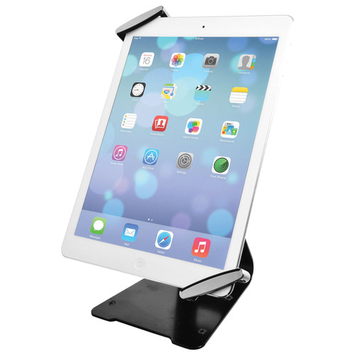 CTA Digital Universal Anti-Theft Security GripHolder with Stand for iPad and Tablets