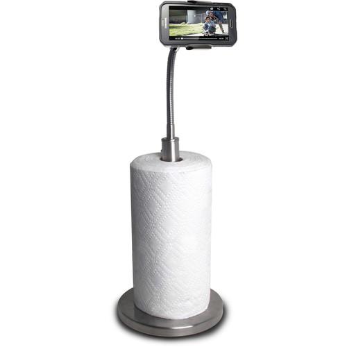 CTA Digital SM-PTH Paper Towel Holder with Gooseneck Stand for Smartphones