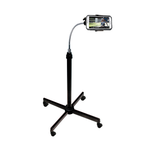 CTA Digital Universal Height-Adjustable Gooseneck Stand With Casters for Smartphones