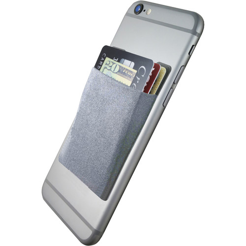 Cubi CardNinja Adhesive Wallet for Smartphones (Steel Gray)