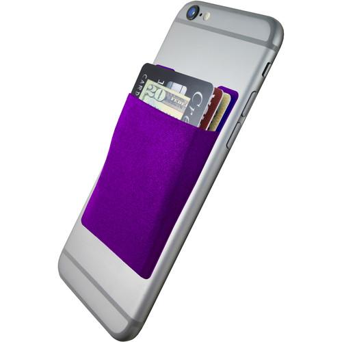 Cubi CardNinja Adhesive Wallet for Smartphones (Eggplant Purple)