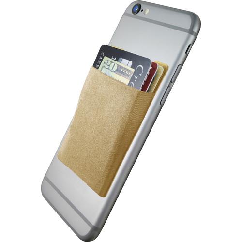 Cubi CardNinja Adhesive Wallet for Smartphones (Gold)