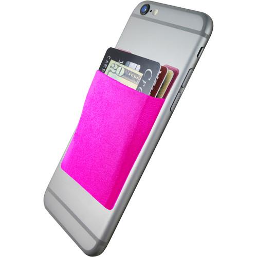 Cubi CardNinja Adhesive Wallet for Smartphones (Magenta)