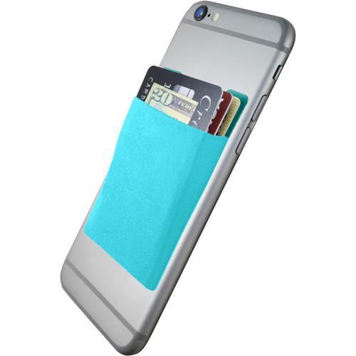 Cubi CardNinja Adhesive Wallet for Smartphones (Blue Raspberry)