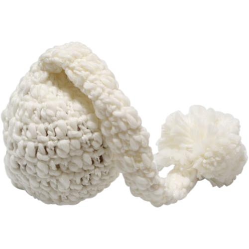 Custom Photo Props Newborn Chunky Elf Hat (Antique White)