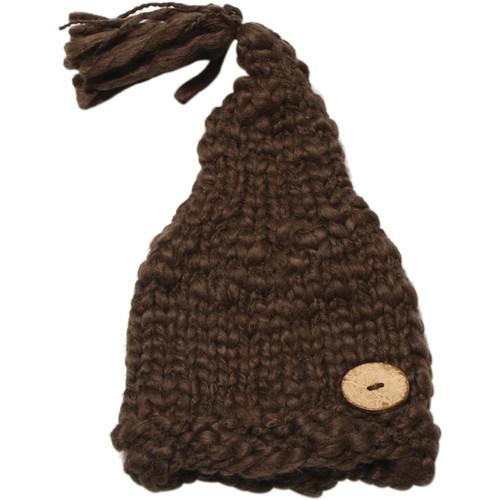 Custom Photo Props Chunky Sleepy Baby Hat (Brown)