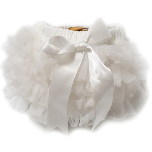 Custom Photo Props Chiffon Diaper Cover (Chalk Ivory)