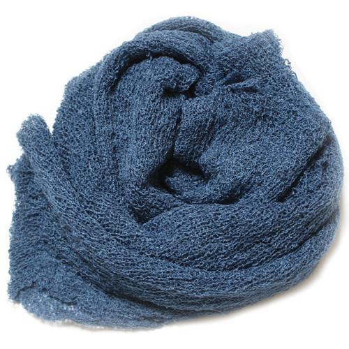 Custom Photo Props Nubble Newborn Stretch Wrap (Denim Blue)