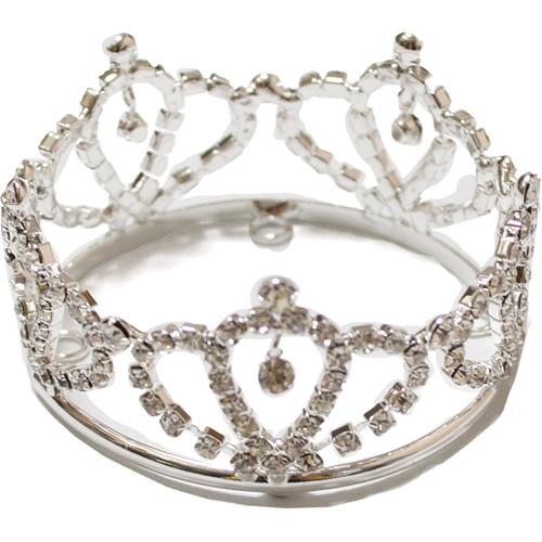 Custom Photo Props Glenda Princess Rhinestone Newborn Crown (Short)