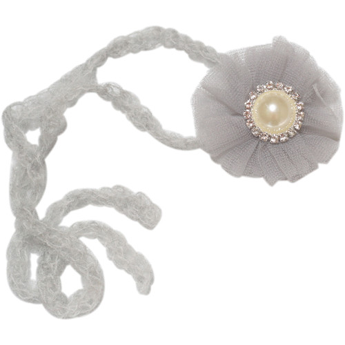 Custom Photo Props Chiffon Newborn Headband (Mist Gray)