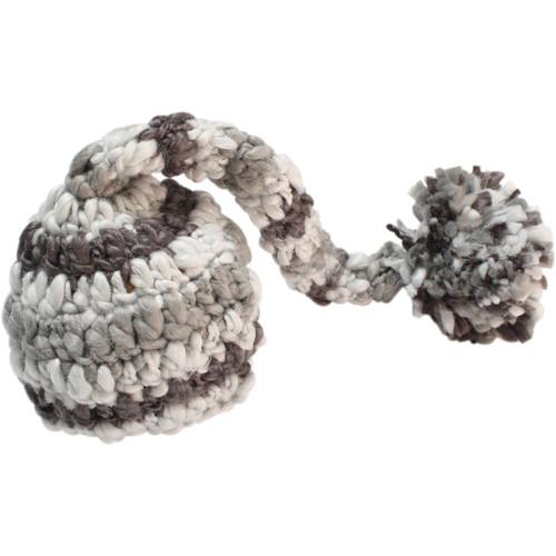 Custom Photo Props Newborn Chunky Elf Hat (Striped Gray)