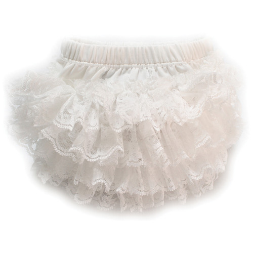 Custom Photo Props Stretch Lace Diaper Cover Bloomer (Ivory)