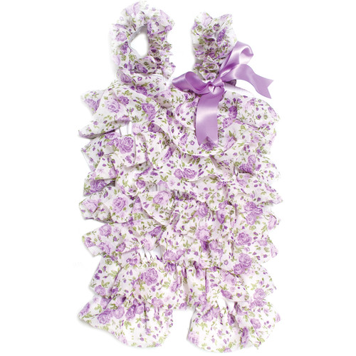 Custom Photo Props Floral Newborn Romper (Purple)