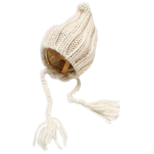 Custom Photo Props Ribbed Pixie Knit Hat (Rice)