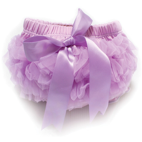 Custom Photo Props Chiffon Diaper Cover with Bow (Light Purple)