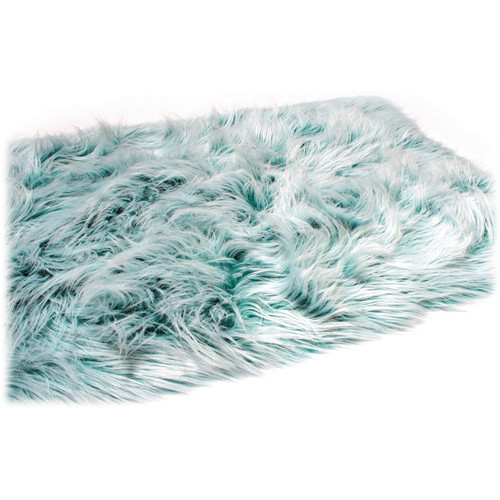 "Custom Photo Props Teal Twist Faux Flokati Fur (36 x 62"")"