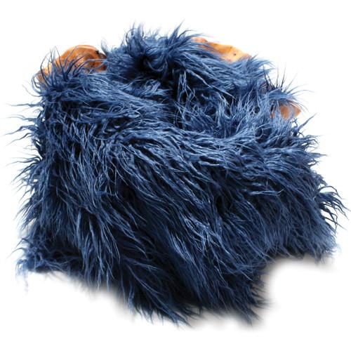 "Custom Photo Props Faux Flokati Fur Newborn Photo Prop (Apollo Blue, 36 x 62"")"