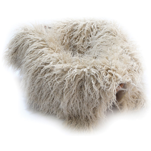 "Custom Photo Props Faux Flokati Fur Newborn Photo Prop (Blondie, 20 x 32"")"