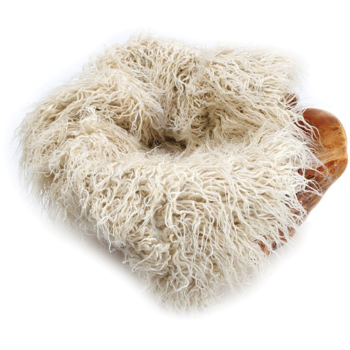"Custom Photo Props Faux Fur Newborn Photo Prop (Eggshell Curly Sheep, 62 x 72"")"