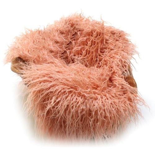 "Custom Photo Props Faux Fur Newborn Photo Prop (Peaches Curly Sheep, 20 x 32"")"