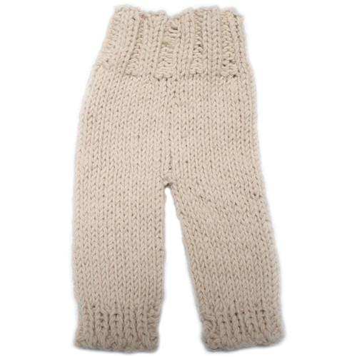 Custom Photo Props Summer Knit Baby Pants (Husk Tan)