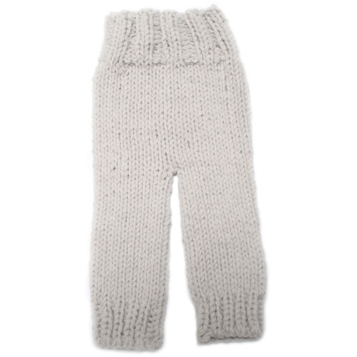 Custom Photo Props Summer Knit Baby Pants (Birch Gray/Tan)
